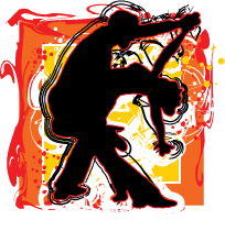 Salsa Dancing Illustration